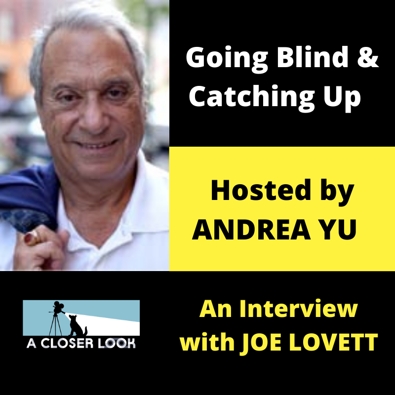 Going Blind & Catching Up with Andrea Yu: Joe Lovett